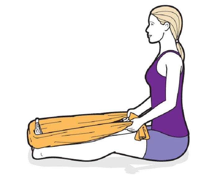 Exercício para calcanhar após caminhada