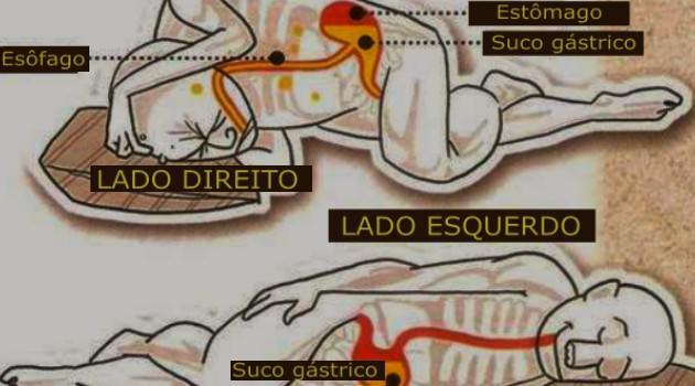 Dormir do lado esquerdo melhora a digestão.