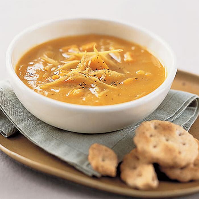 receitas com batata-doce: sopa cremosa de batata-doce com gengibre
