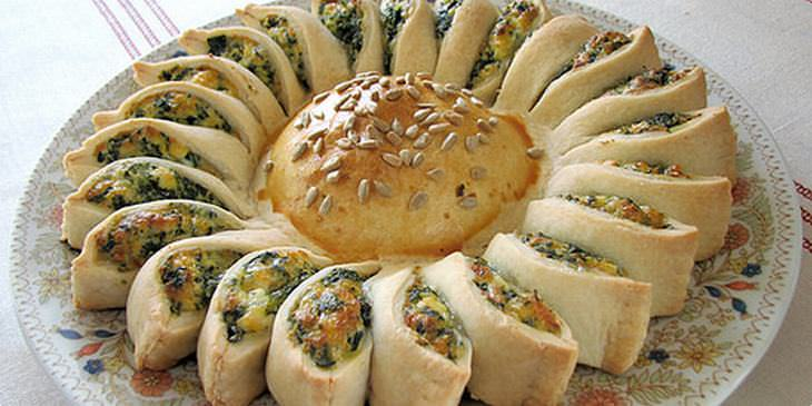 Torta Sol de Espinafre e Ricota: Um belo prato que rouba a cena