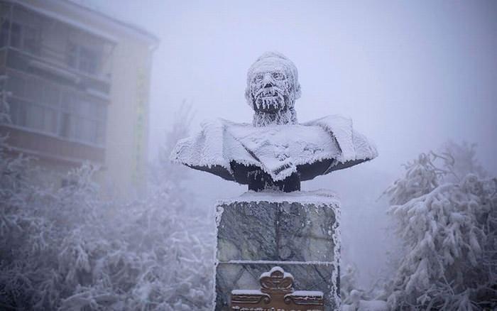 frio, aldeia, Sibéria