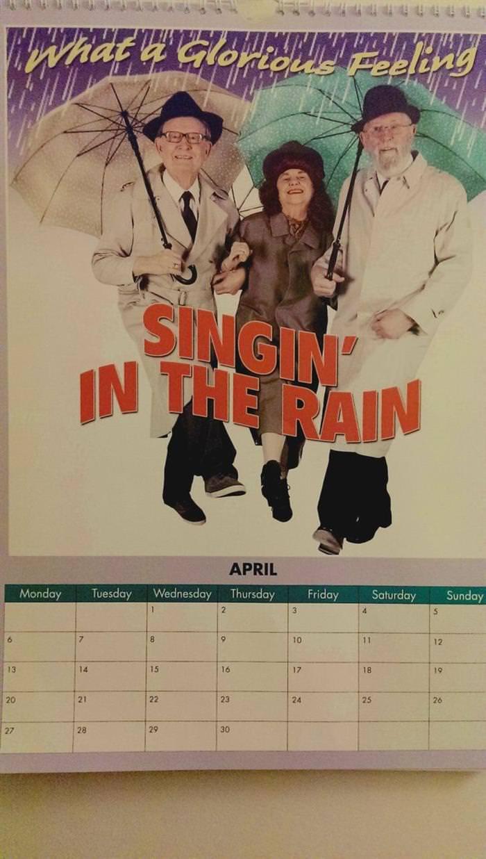 idosos, calendário