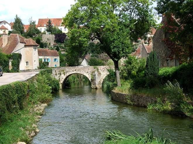 França, medieval, arquitetura, vilarejos