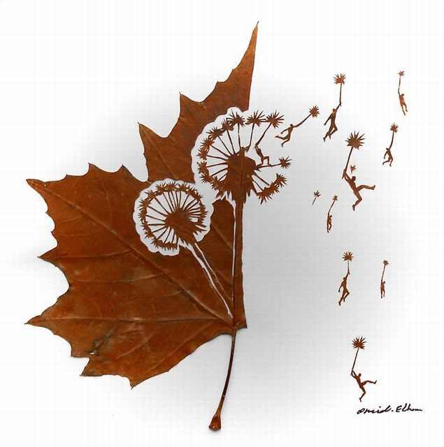 folhas, arte
