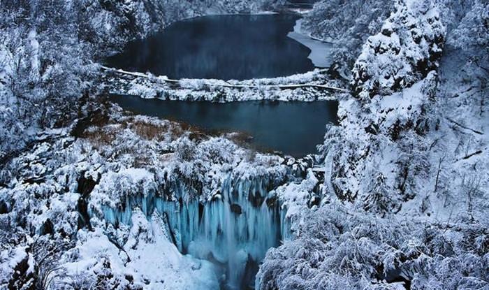 Croácia, parque, lagos
