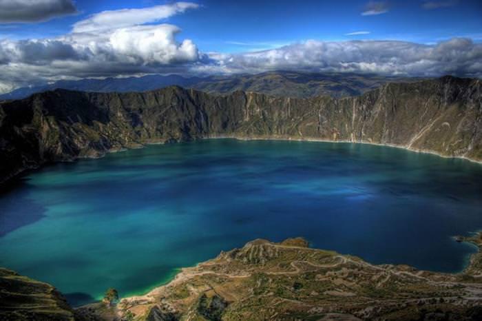 caldeiras, crateras, vulcões