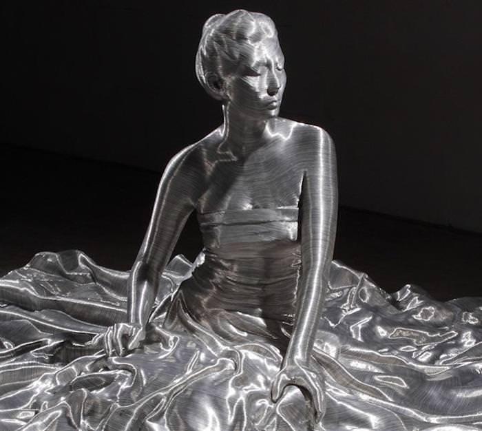 esculturas, metal