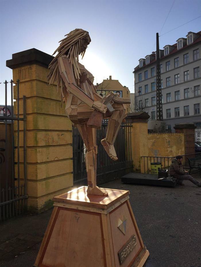 esculturas, madeira