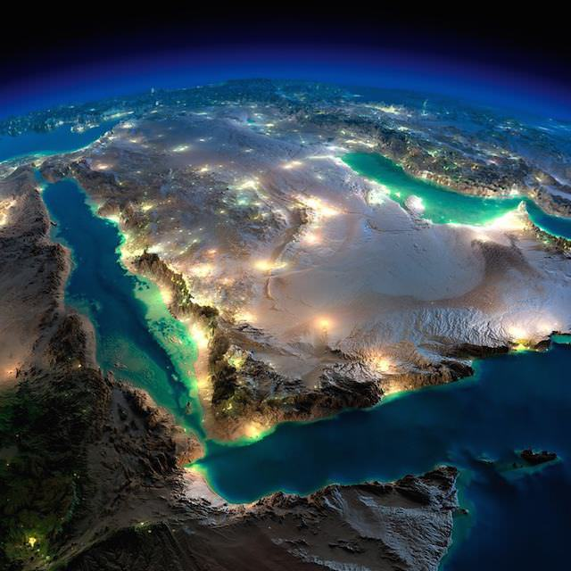 Terra vista do espaço