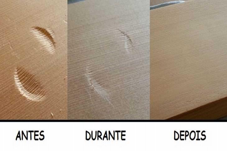 consertar madeira amassada