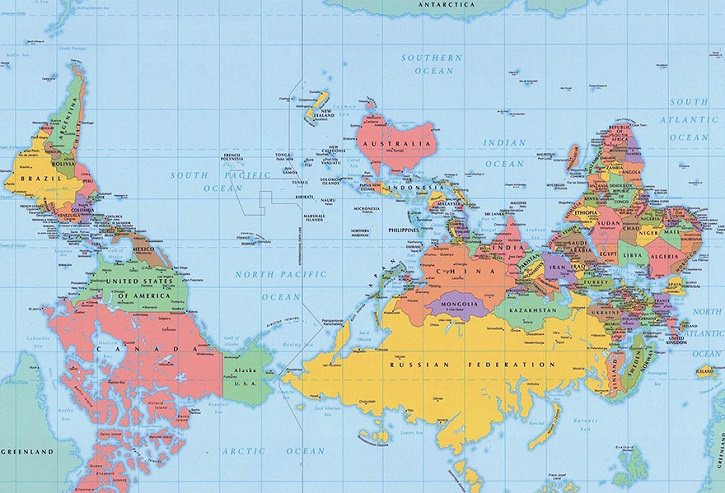 mapa mundi diferente