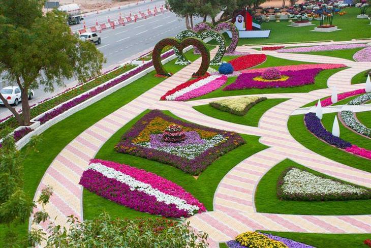 O jardim que mais parece um paraíso Al Ain nos Emirados Árabes