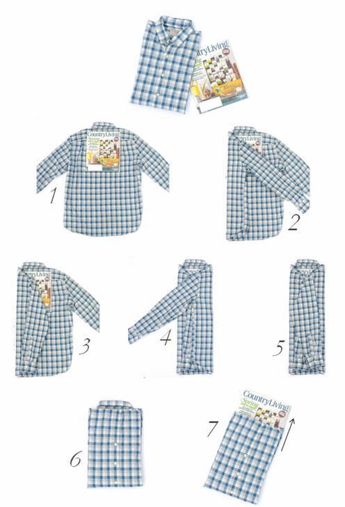 dobrar roupas - camisas