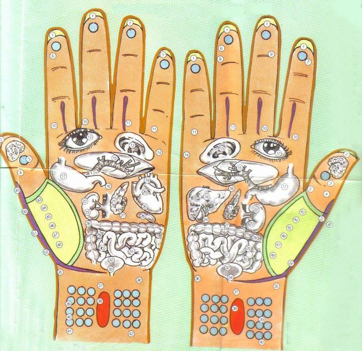 pontos de pressão nas mãos e pés