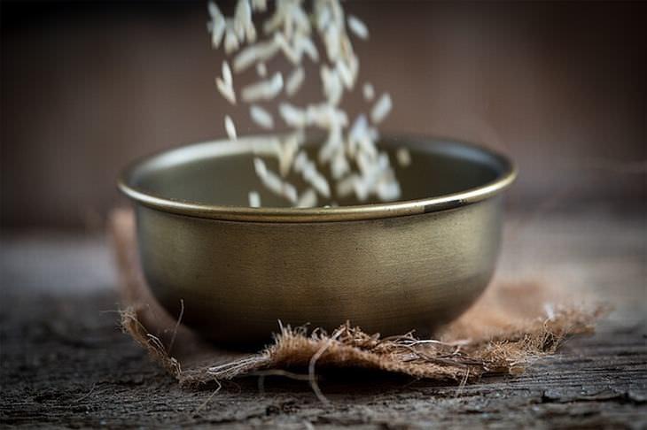 corte calorias do arroz óleo de coco