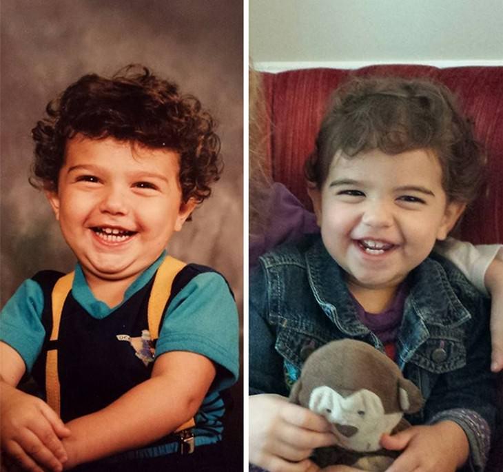 crianças idênticas aos pais