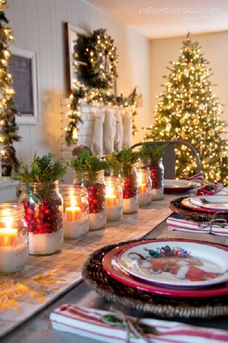 15 ideias criativas e baratas para a mesa de Natal