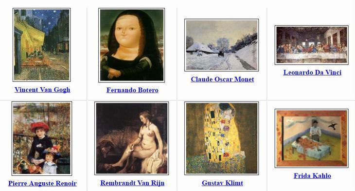 site com os maiores pintores do mundo