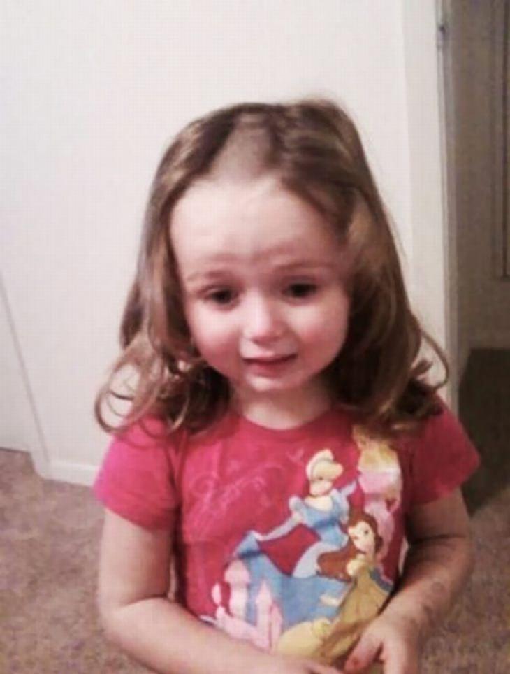 16 crianças que fizeram desastres no cabelo