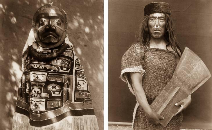 Retratos do início do século XX de nativos americanos