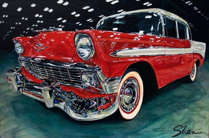 A arte de carros por Shannon Fannin