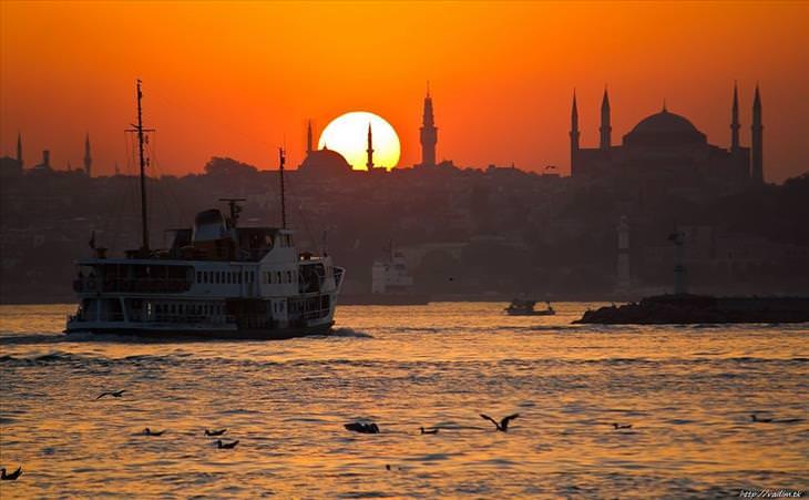Pôr do sol ao redor do mundo