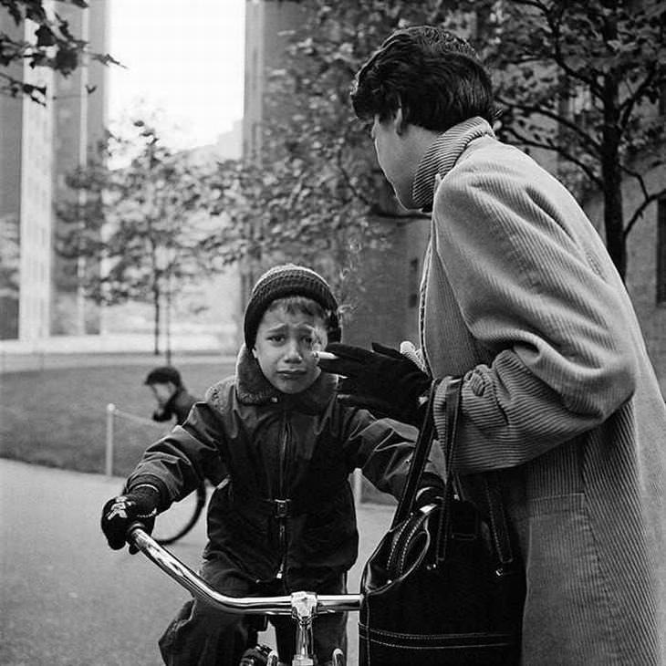 Belas fotos preta e branca dos anos 50 Nova Iorque