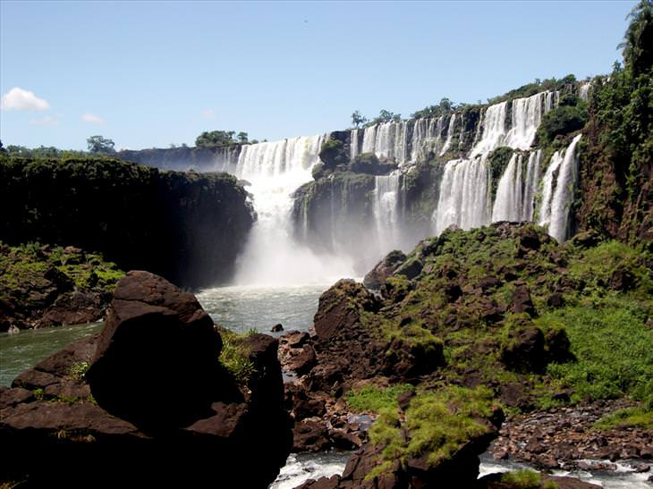A vista nas Cataratas do Iguaçu