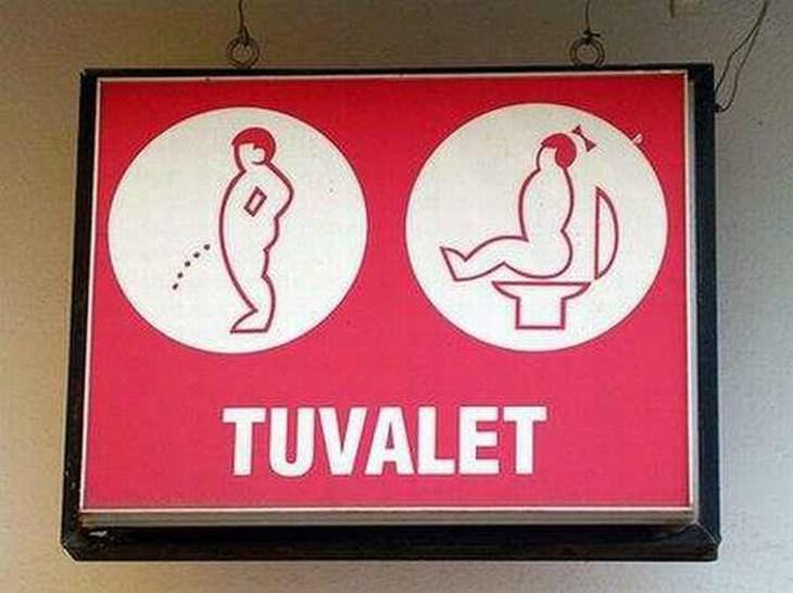 Divertidas Placas de Banheiro (Adulto)