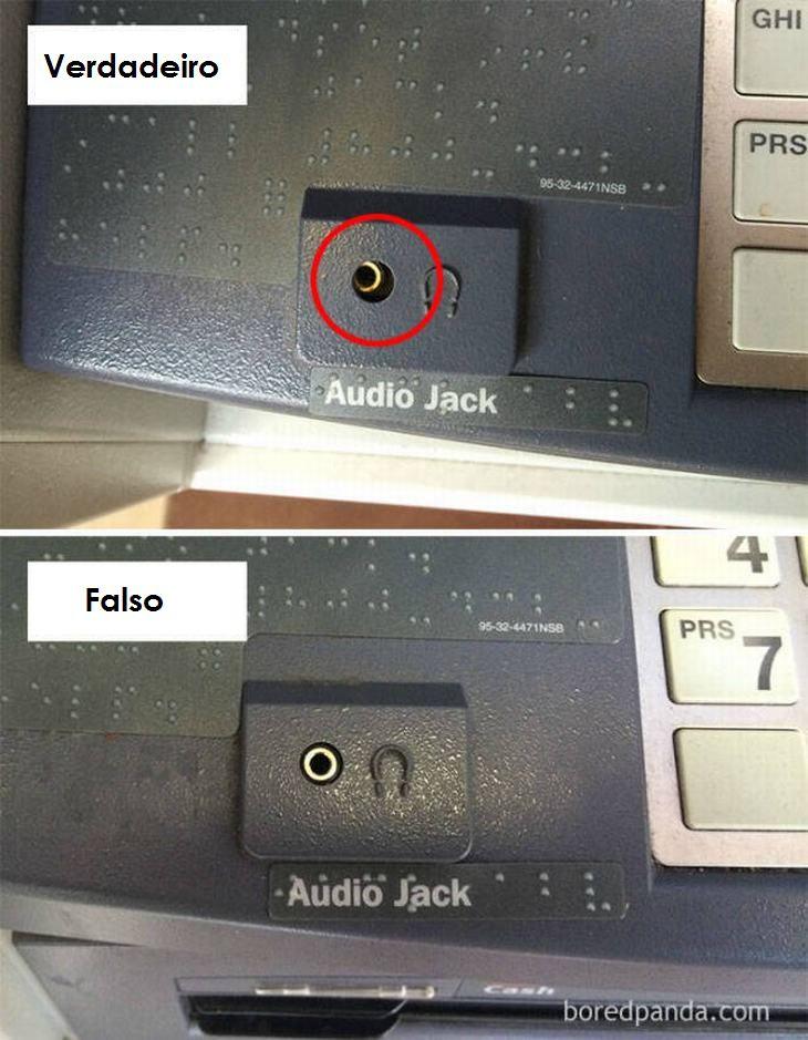 como identificar caixas eletrônicos falsos