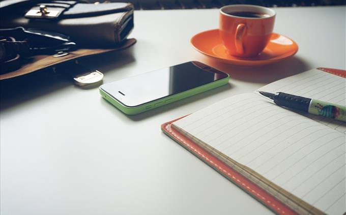 coisas na mesa de trabalho