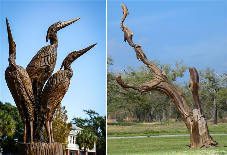 esculturas com árvore