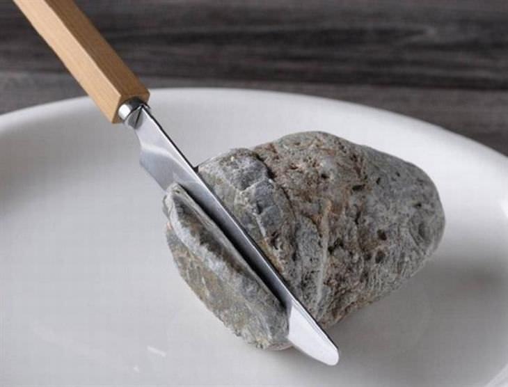 esculturas de pedra do artista japonês Hirotoshi Itoh
