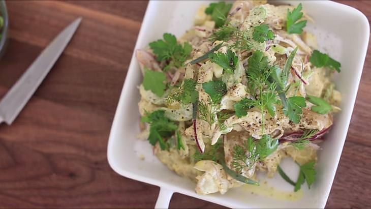 receita de salada de batata saudável