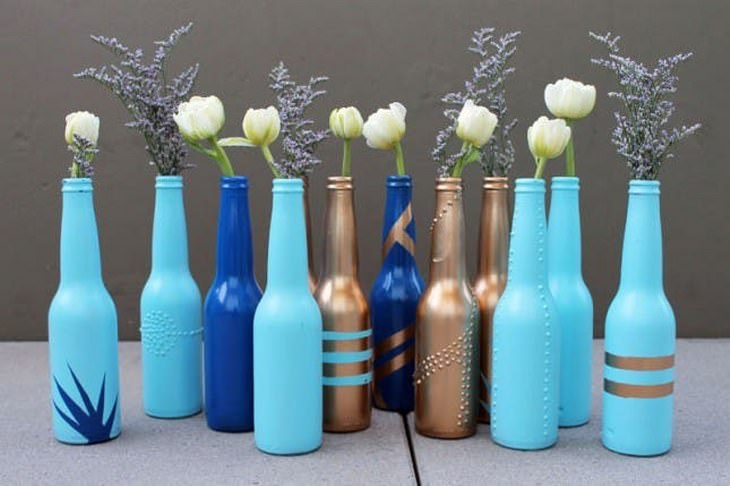 reutilizar garrafas de vidro