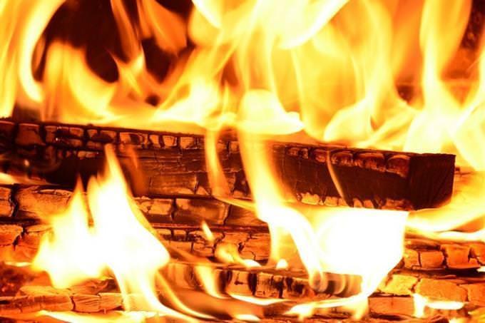 fogo na lenha