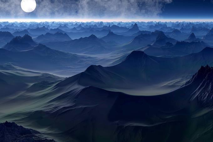montanha escura