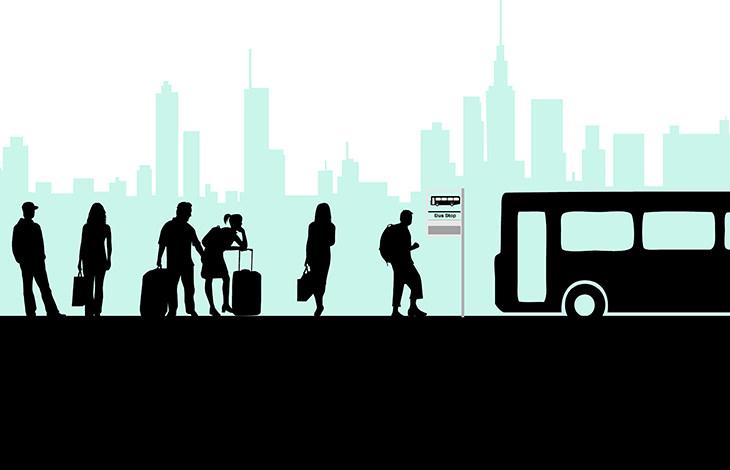 piada: família de 9 filhos entra no ônibus