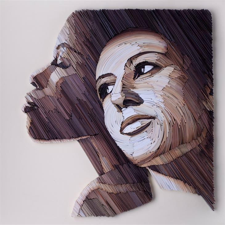 retratos de papel
