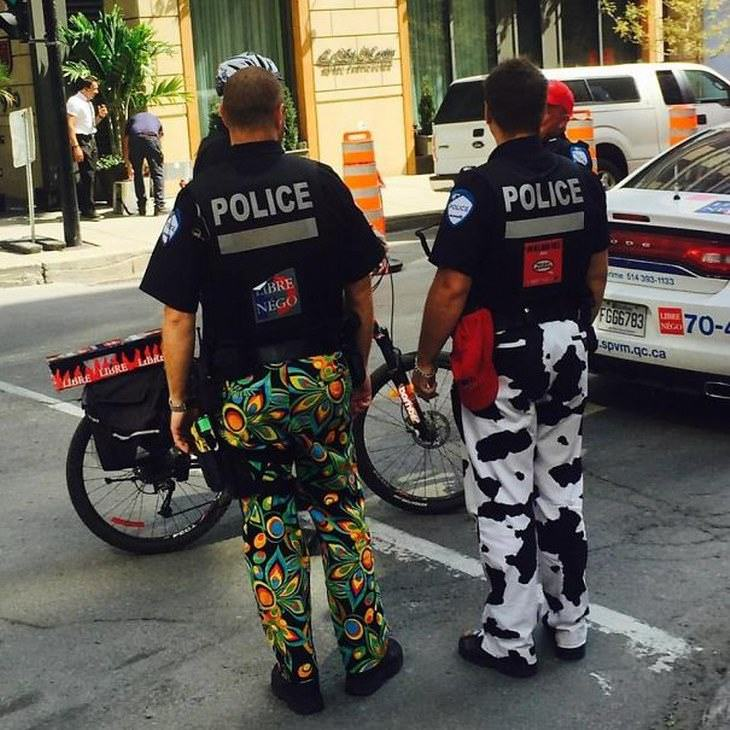 policiais engraçados