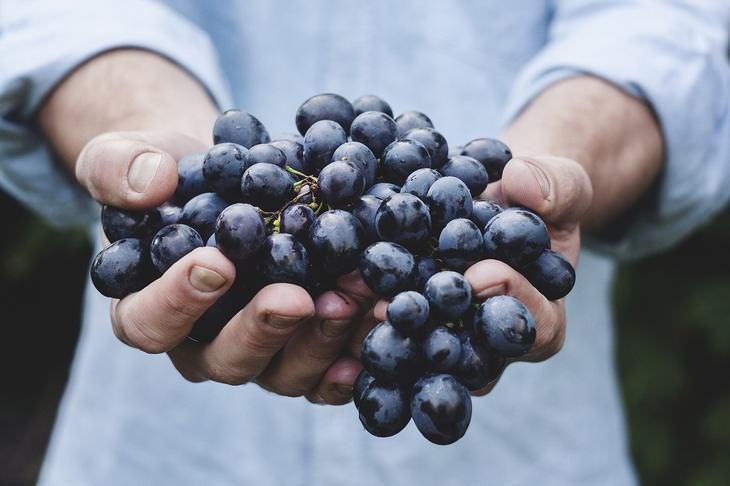 benefícios das uvas