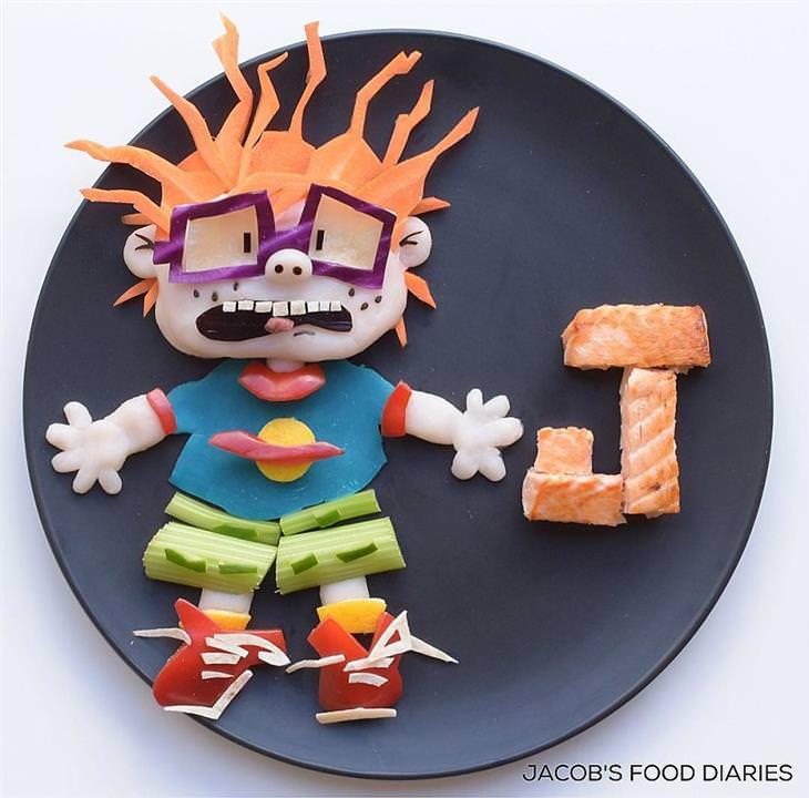 comida em forma de desenho