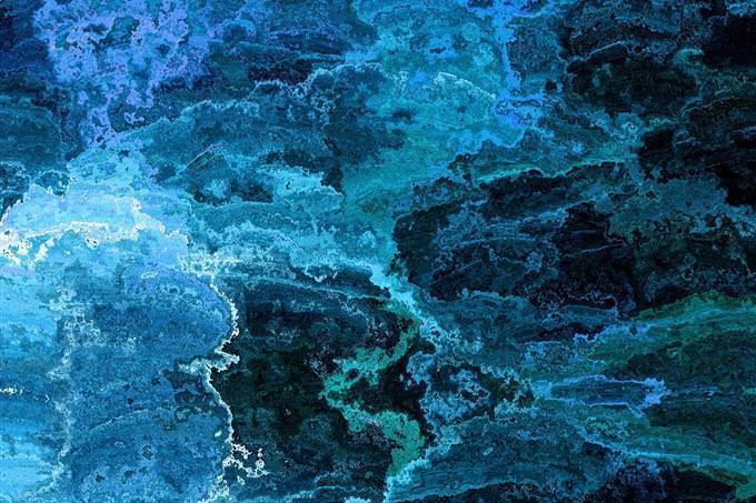ilustração gráfica em preto e azul
