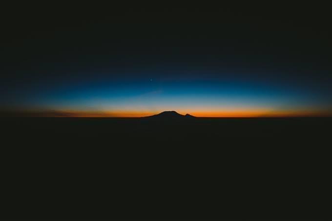luz do sol no horizonte