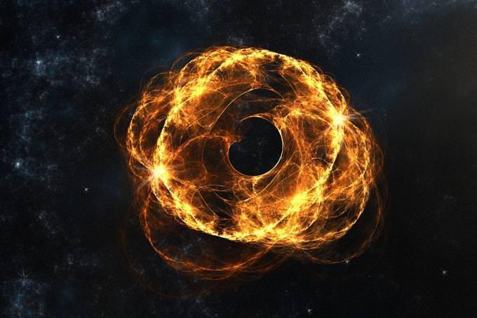 buraco negro na galáxia