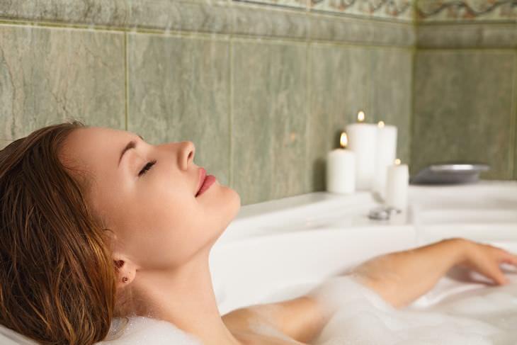 banho frio e banho quente