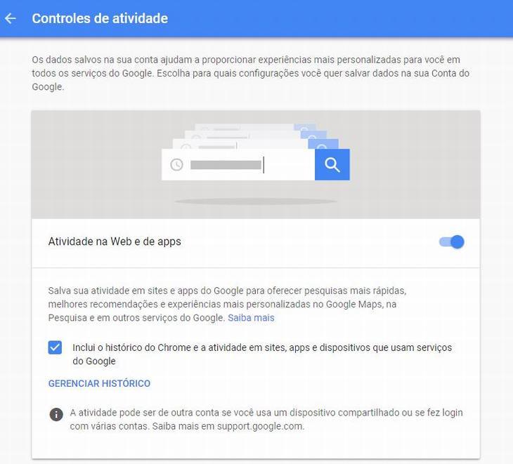 informações do Google