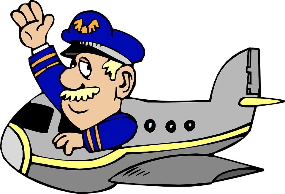 piada do piloto cego de avião