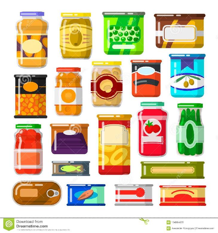 Alimentos e suprimentos Legumes e verduras em conserva