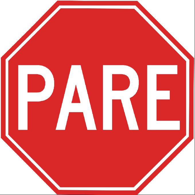 Formas das placas de trânsito - Pare